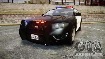 GTA V Vapid Interceptor LSS Black [ELS] for GTA 4