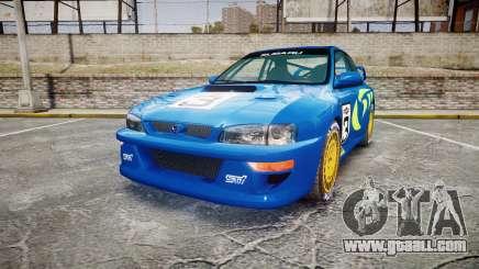 Subaru Impreza WRC 1998 World Rally v3.0 Green for GTA 4