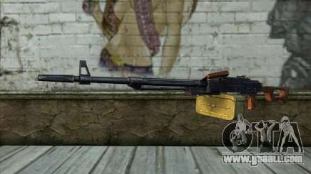 The Machine Gun Kalashnikov Modernized for GTA San Andreas