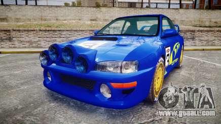 Subaru Impreza WRC 1998 Rally v2.0 Yellow for GTA 4