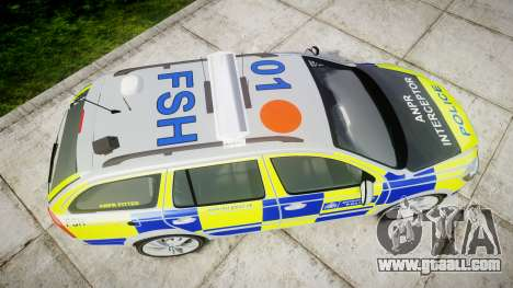 Skoda Octavia vRS Comb Metropolitan Police [ELS] for GTA 4 right view