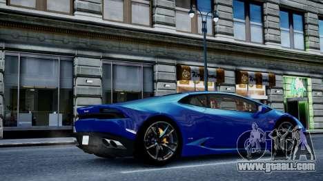 Lamborghini Huracan LP610-4 from Horizon 2 for GTA 4 back left view