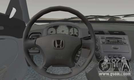 Honda Civic for GTA San Andreas back left view