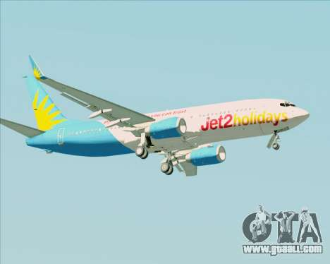 Boeing 737-800 Jet2Holidays for GTA San Andreas side view