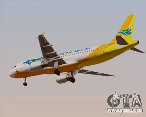 Airbus A320-200 Cebu Pacific Air for GTA San Andreas side view