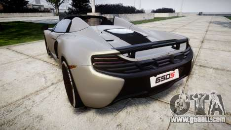 McLaren 650S Spider 2014 [EPM] v2.0 for GTA 4 back left view