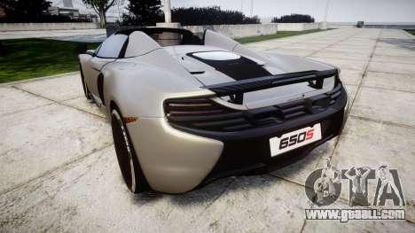 McLaren 650S Spider 2014 [EPM] v2.0 for GTA 4 back left view