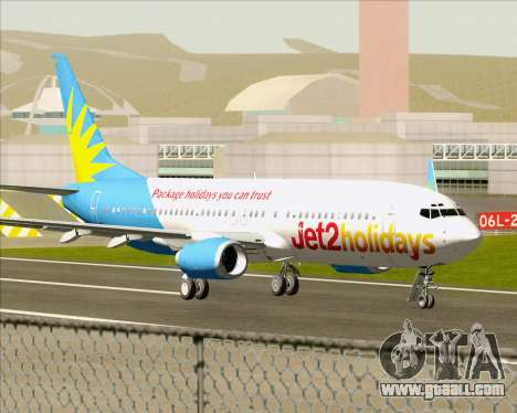 Boeing 737-800 Jet2Holidays for GTA San Andreas back left view