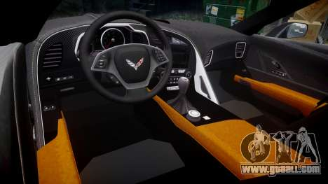 Chevrolet Corvette C7 Stingray 2014 v2.0 TireBr2 for GTA 4 inner view