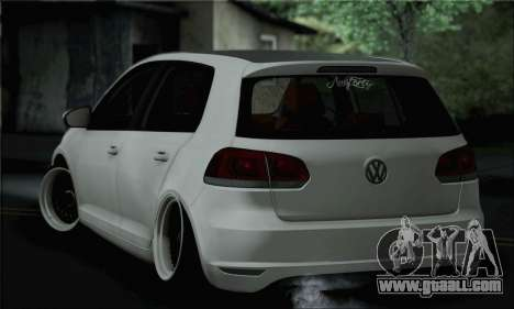 Volkswagen Golf R for GTA San Andreas left view