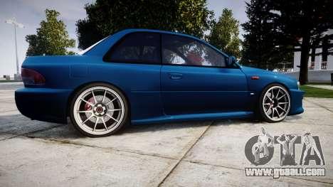 Subaru Impreza 22B Street for GTA 4 left view