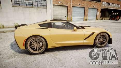 Chevrolet Corvette Z06 2015 TireMi5 for GTA 4 left view