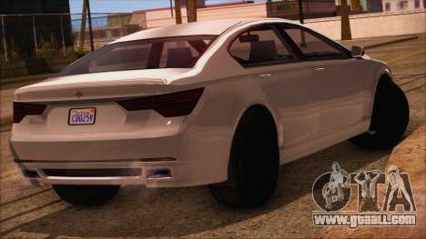 GTA 5 Ubermacht Sport IVF for GTA San Andreas left view