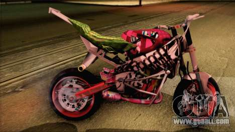 Kawasaki Ninja Zx6R v3 for GTA San Andreas left view