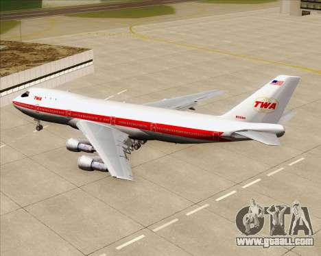 Boeing 747-100 Trans World Airlines (TWA) for GTA San Andreas