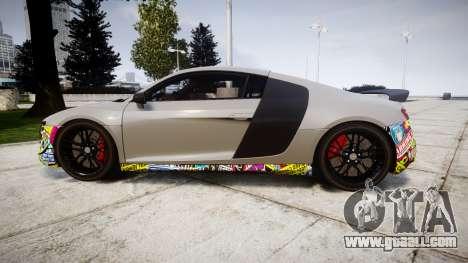 Audi R8 LMX 2015 [EPM] Sticker Bomb for GTA 4 left view