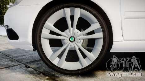 Skoda Octavia vRS Combi Unmarked Police [ELS] for GTA 4 back view