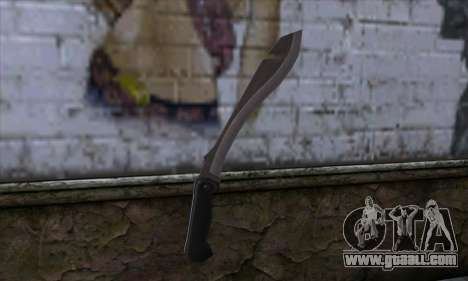 Machete from Far Cry for GTA San Andreas second screenshot