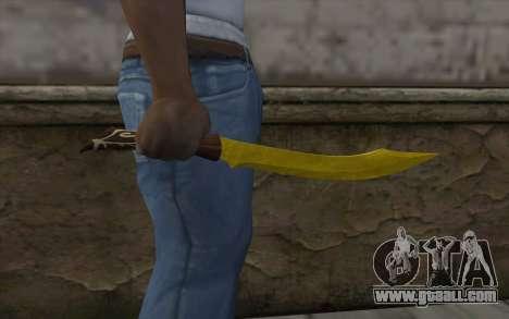 Golden knife for GTA San Andreas third screenshot