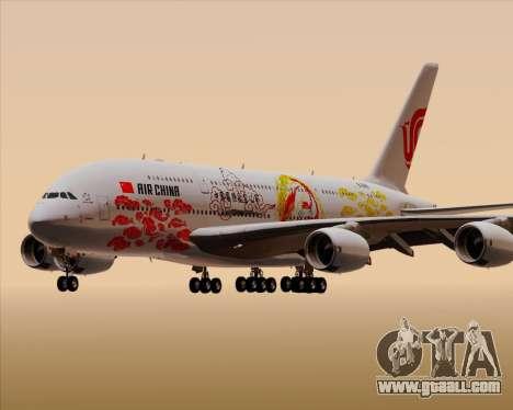 Airbus A380-800 Air China for GTA San Andreas bottom view