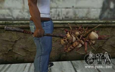 Spyked Zombie Skull Bat From Resident Evil 5 for GTA San Andreas third screenshot