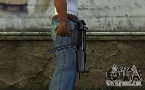 Retextured MP5 for GTA San Andreas third screenshot