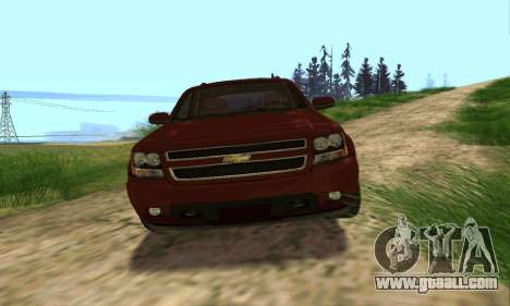 Chevrolet Tahoe Final for GTA San Andreas bottom view
