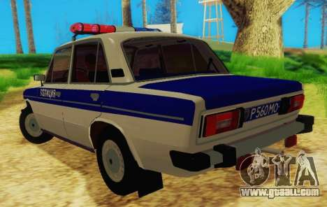 VAZ-2106 Police for GTA San Andreas back left view