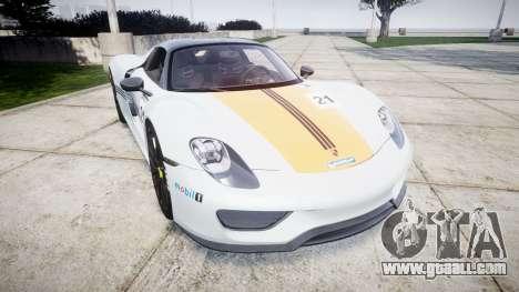 Porsche 918 Spyder 2014 Weissach for GTA 4