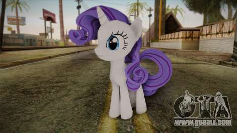 Rarity from My Little Pony for GTA San Andreas