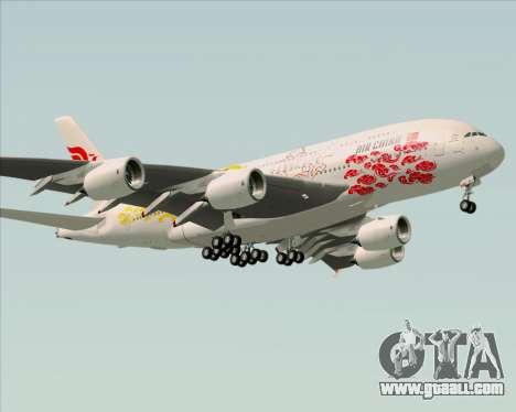 Airbus A380-800 Air China for GTA San Andreas back left view