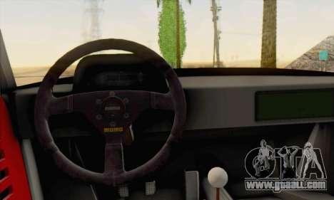 Ferrari F40 Competizione Black Revel for GTA San Andreas back view