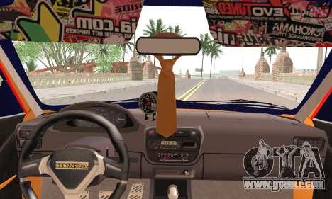 Honda Civic Fake Taxi for GTA San Andreas back left view