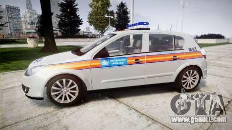 Vauxhall Astra 2010 Metropolitan Police [ELS] for GTA 4 left view