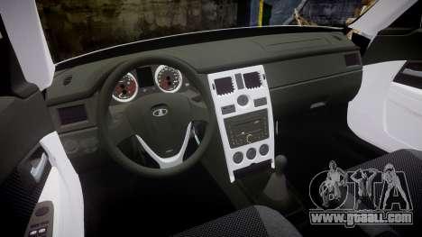 ВАЗ-2170 Installed Prior Vossen for GTA 4 inner view