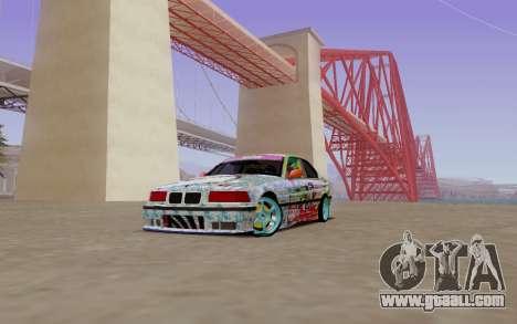 BMW E36 Bridgstone for GTA San Andreas left view