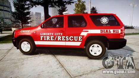 Chevrolet Tahoe Fire Chief [ELS] for GTA 4 left view