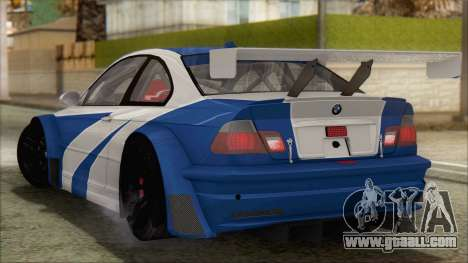 BMW M3 E46 GTR for GTA San Andreas left view