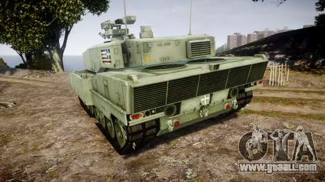 Leopard 2A7 GR Green for GTA 4 back left view