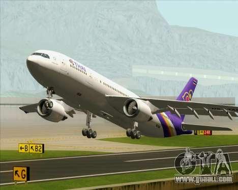 Airbus A300-600 Thai Airways International for GTA San Andreas wheels