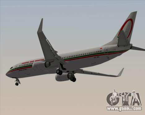 Boeing 737-8B6 Royal Air Maroc (RAM) for GTA San Andreas back view