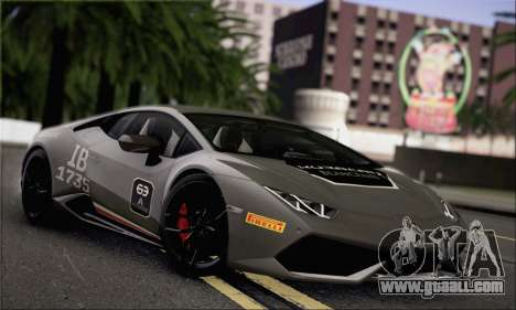 Lamborghini Huracan LP610-4 2015 Rim for GTA San Andreas side view