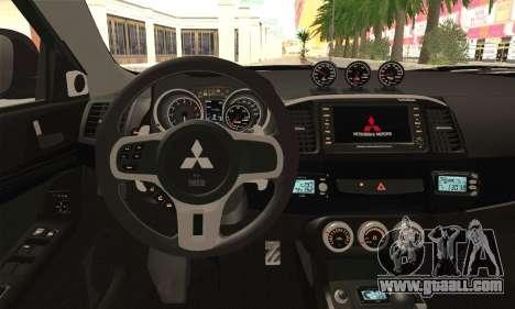 Mitsubishi Lancer Evo X for GTA San Andreas back left view