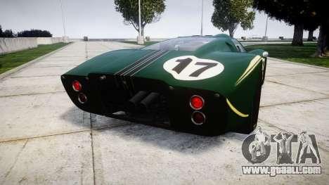 Ford GT40 Mark IV 1967 PJ 17 for GTA 4 back left view