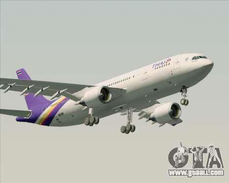 Airbus A300-600 Thai Airways International for GTA San Andreas bottom view