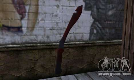 Bloody Machete from Far Cry for GTA San Andreas second screenshot