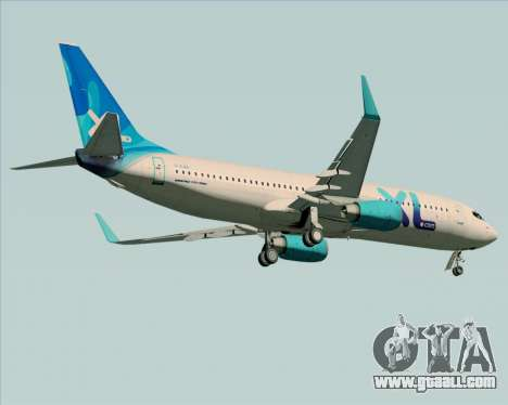Boeing 737-800 XL Airways for GTA San Andreas back view
