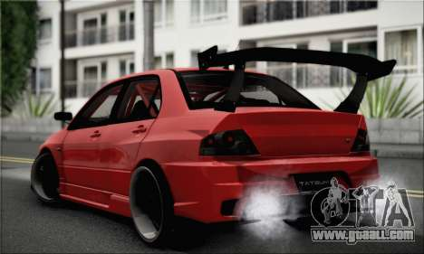 Mitsubishi Lancer EVO IX for GTA San Andreas left view