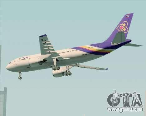 Airbus A300-600 Thai Airways International for GTA San Andreas right view