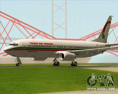 Boeing 737-8B6 Royal Air Maroc (RAM) for GTA San Andreas right view